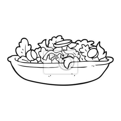 Papiers Peints Noir Blanc Dessin Animé Salade