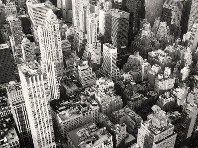 Papiers peints Noir, blanc, vue, midtown, nouveau, York, ville