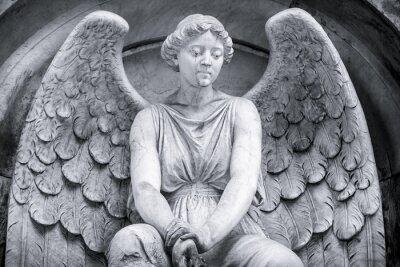 Papiers peints Noir et blanc tir d'un ange.