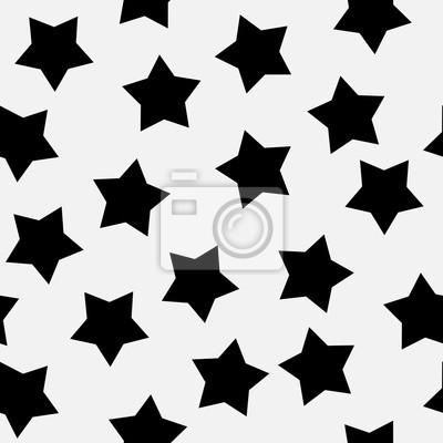 Noir Etoiles Sur Blanc Fond Seamless Vecteur Papier Peint Papiers