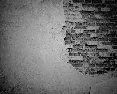 Papiers peints Noir, grunge, intempéries, fissuré, brique, mur, texture