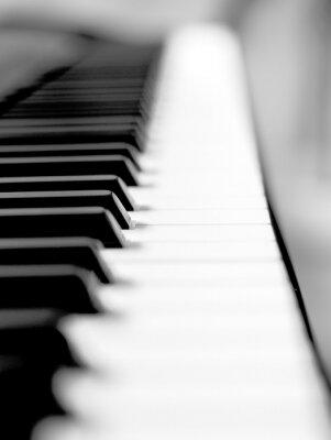 Papiers peints Noir, piano, fin, haut, flou, fond, premier plan