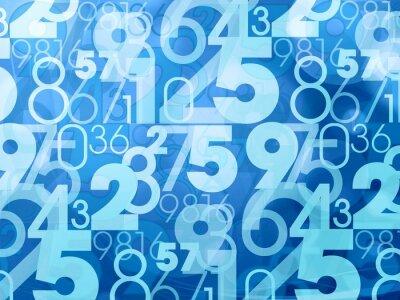 Papiers peints nombres abstraits bleus