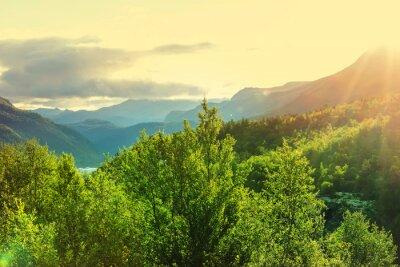 Papiers peints Norvège montagnes