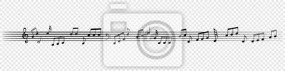 Notes de musique décoratif fond de taver mélodie. Affiche musicale de vecteur de ligne de personnel de note pour la conception de la bannière de concert ou école de musique