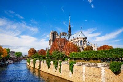 Papiers peints Notre Dame de Paris le long de la Seine