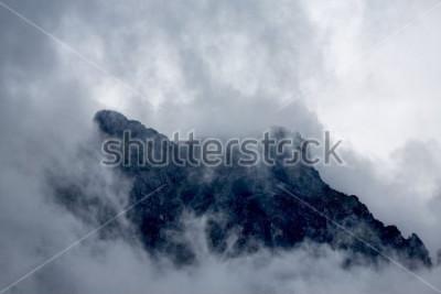 Papiers peints Nuages, au sommet, de, a, montagne, dans, les, alpes, europe, autriche
