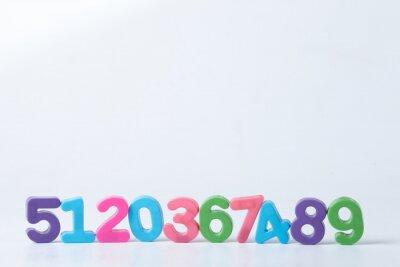 Papiers peints Numéros colorés et assortis