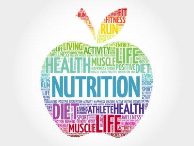 Papiers peints Nutrition, pomme, mot, nuage, santé, concept