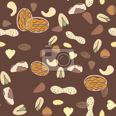 Nuts collection de vecteur de texture à carreler.