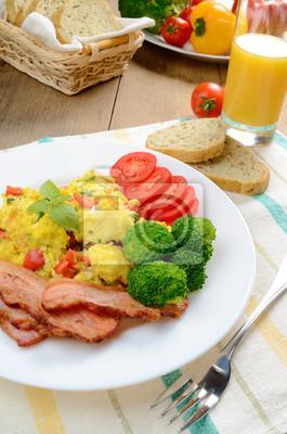 Oeufs brouillés au bacon
