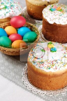 Oeufs de Pâques dans le panier