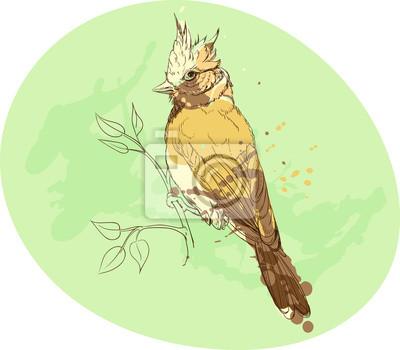 oiseau jaune sur une branche