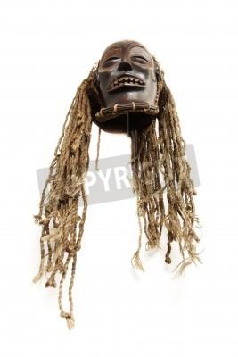 Old antique masque tribal africain Chokwe