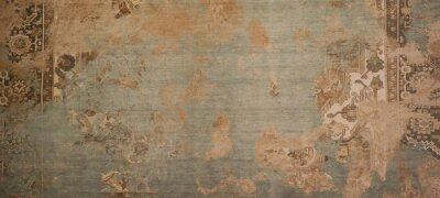 Papiers peints Old brown gray rusty vintage worn shabby patchwork motif tiles stone concrete cement wall texture background banner