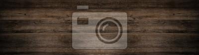 Papiers peints old brown rustic dark wooden texture - wood background panorama long banner