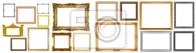 Papiers peints Old gold frame
