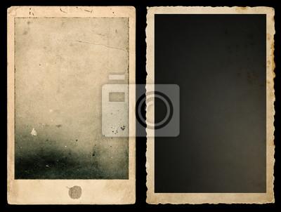 Papiers peints Old paper photo frames Used vintage cardboard
