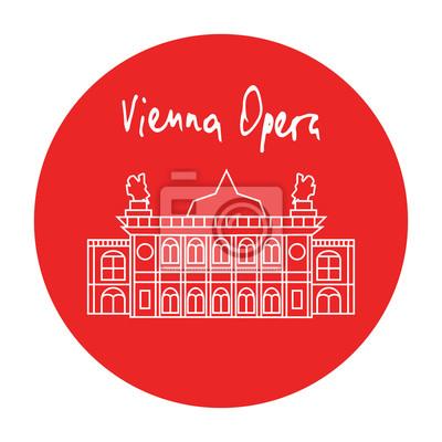 Opéra de Vienne vecteur icône