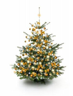 Or Sapin de Noël décoré