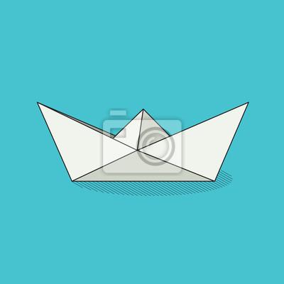 Origami Bateau Jouet Blanc Plie Papier Objet Tcolorful Papier