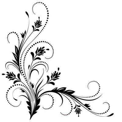 Papiers peints Ornement de coin décoratif