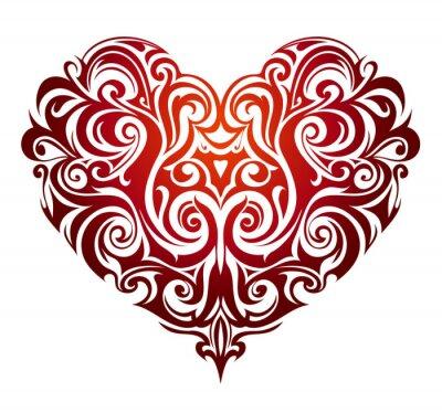 Papiers peints Ornement de forme de coeur