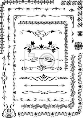 ornement, motif, calligraphie