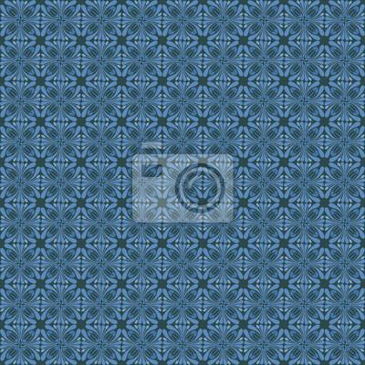 ornemental Art Nouveau bleu motif floral motif
