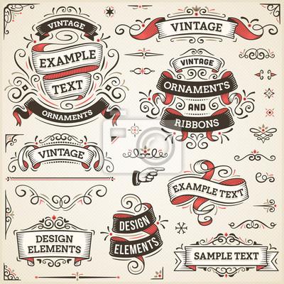 Papiers peints Ornements et rubans Vintage