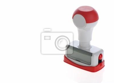 outils de timbres en plastique isolé sur fond blanc