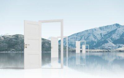 Papiers peints Ouvert, portes, champ
