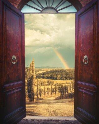 Papiers peints Ouvrez la porte et paysage