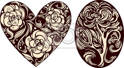 Ovale et images cardiaques décoratif