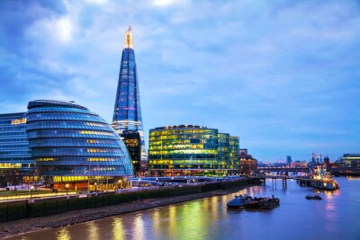 Papiers peints Overview of London with the Shard London Bridge
