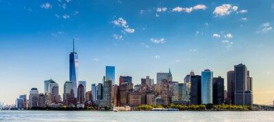 Papiers peints Paesaggio di città di New York con grattaciel