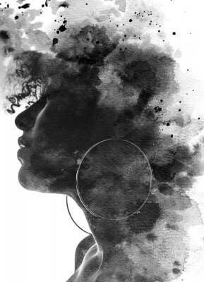 Papiers peints Paintography portrait of a young woman