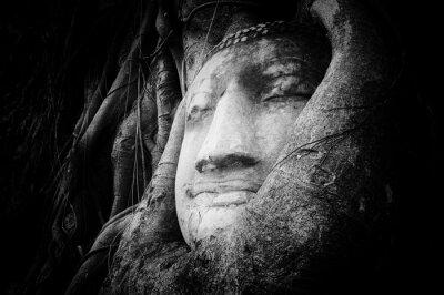 Papiers peints Paisible, tranquille, figure, Bouddha, sculpté, Ancien, pierre
