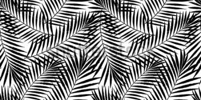 Papiers peints Palmier tropical l'été laisse modèle sans couture. Conception de grunge de vecteur pour les cartes, web, arrière-plans et produit naturel.
