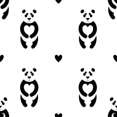 Papiers peints Panda motif 6