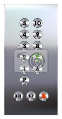 Papiers peints panneau de boutons d'ascenseur