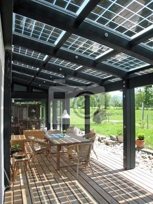Panneau Photovoltaïque Patio Couvert Papier Peint Papiers Peints