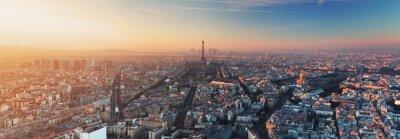 Papiers peints Panorama de Paris au coucher du soleil