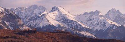Papiers peints Panorama, neigeux, Tatra, montagnes, Printemps, sud, Pologne