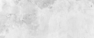 Papiers peints Panorama of Old cement wall painted white, peeling paint texture and background