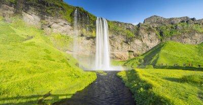 Papiers peints Panorama, rivière, chute eau, Islande