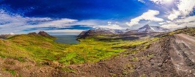 Papiers peints Panorama, vallée, arctique, mer, montagnes, Islande