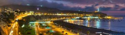Papiers peints Panoramique HDR vue de la baie de Chorrollos à Lima, au Pérou.