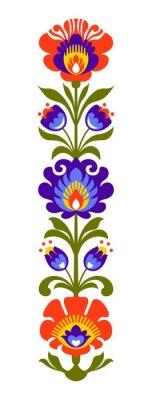 Papiers peints Papercut polonais de fleurs folkloriques