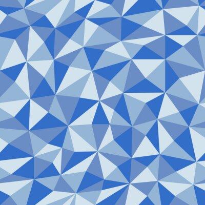 Papiers peints Papier bleu froissé avec un motif géométrique sans soudure